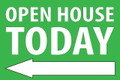Open House Today - Left Arrow - Green