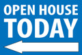 Open House Today - Left Arrow - Blue