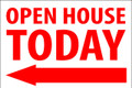 Open House Today - Left Arrow - White/Red