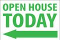Open House Today - Left Arrow - White/Green