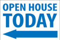 Open House Today - Left Arrow - White/Blue