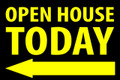 Open House Today - Left Arrow - Black/Yellow