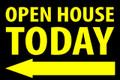 Open House Today - Left Arrow - Black/Yellow