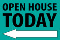 Open House Today - Left Arrow - Teal