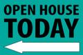 Open House Today - Left Arrow - Teal