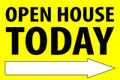 Open House Today -Right Arrow - Yellow