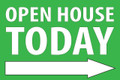 Open House Today -Right Arrow - Green