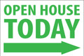 Open House Today -Right Arrow - White/Green