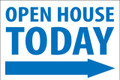 Open House Today -Right Arrow - White/Blue