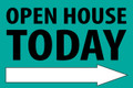 Open House Today -Right Arrow - Teal