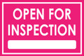 Open For Inspection  - Classic Style - Pink