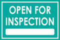 Open For Inspection  - Classic Style - Teal