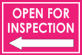 Open For Inspection  - Classic Left Arrow - Pink