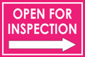 Open For Inspection  - Classic Right Arrow - Pink