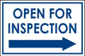 Open For Inspection  - Classic Right Arrow - White/Blue