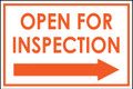 Open For Inspection  - Classic Right Arrow - White/Orange