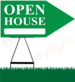 Open House RIGHT Arrow Sign - Green