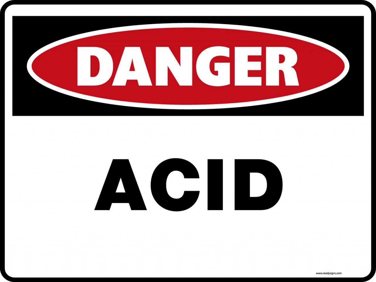 Danger Signs Acid Ready Signs
