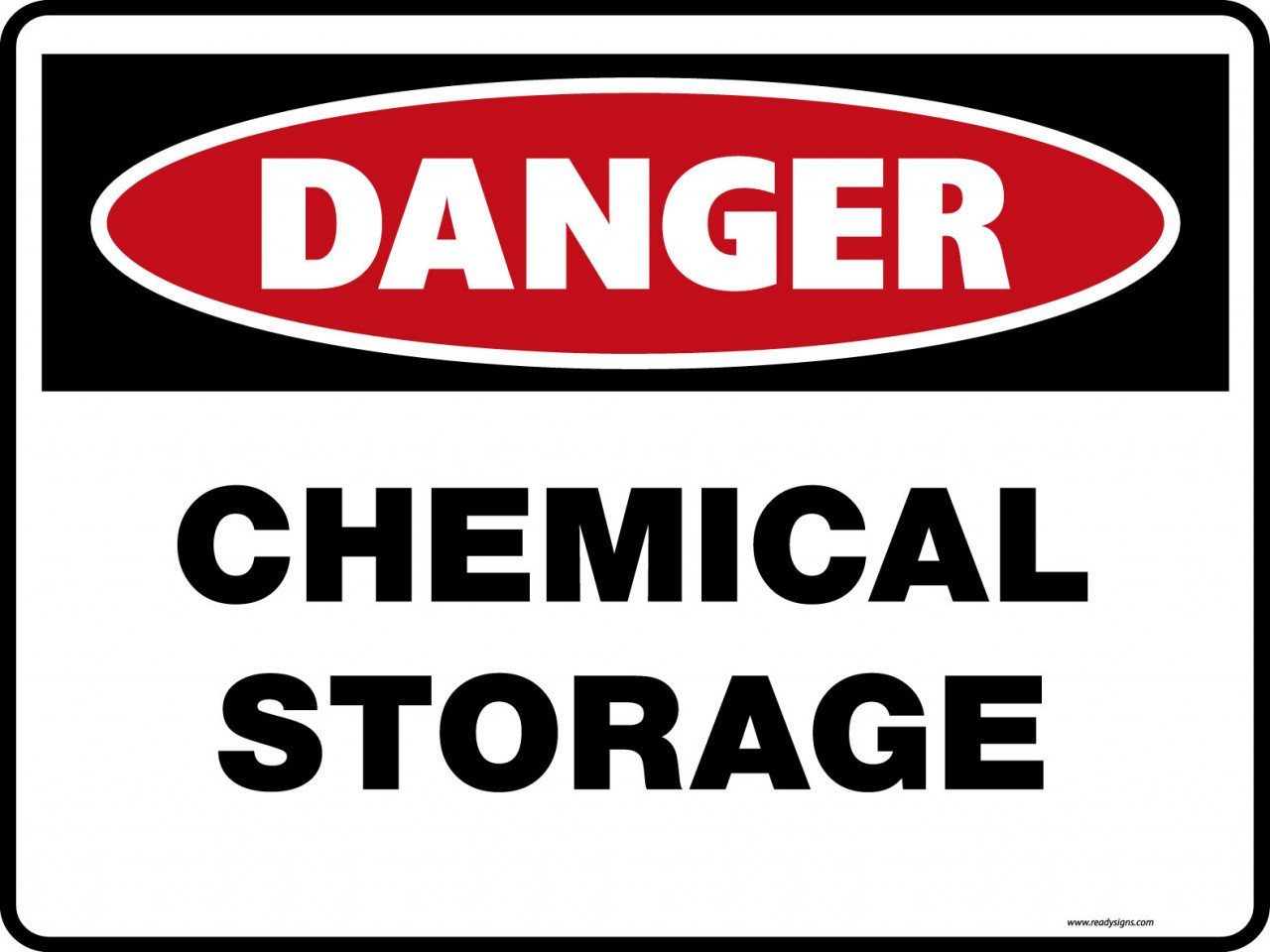 Danger Signs Chemical Storage Property Signs