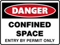 Danger Sign - CONFINED SPACE ENTRY BY PERMIT ONLY