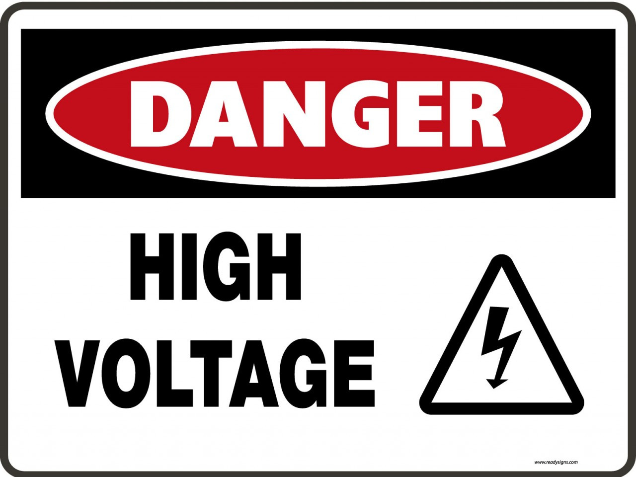 Danger Signs High Voltage Amp Symbol Ready Signs