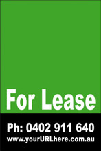 For Lease Sign No. 4 Customise your Ph & URL