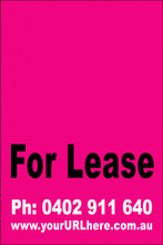 For Lease Sign No. 9 Customise your Ph & URL