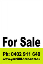 For Sale Sign No. 11 Customise your Ph & URL