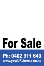 For Sale Sign No. 16 Customise your Ph & URL