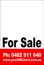 For Sale Sign No. 23 Customise your Ph & URL