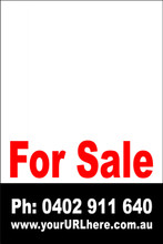 For Sale Sign No. 24 Customise your Ph & URL