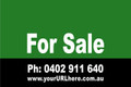 For Sale Sign No. 4 Landscape Customise your Ph & URL