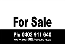 For Sale Sign No. 13 Landscape Customise your Ph & URL