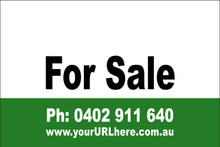 For Sale Sign No. 14 Landscape Customise your Ph & URL