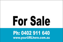 For Sale Sign No. 15 Landscape Customise your Ph & URL