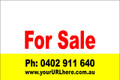 For Sale Sign No. 18 Landscape Customise your Ph & URL