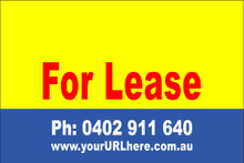 For Lease Sign No. 1 Landscape Customise your Ph & URL
