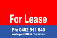 For Lease Sign No. 2 Landscape Customise your Ph & URL