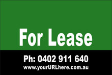 For Lease Sign No. 4 Landscape Customise your Ph & URL