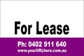 For Lease Sign No. 20 Landscape Customise your Ph & URL