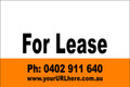For Lease Sign No. 22 Landscape Customise your Ph & URL