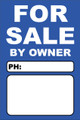 For Sale By Owner FSBO Sign No: 9- Blue