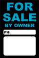 For Sale By Owner FSBO Sign No: 14- Light Blue/Black