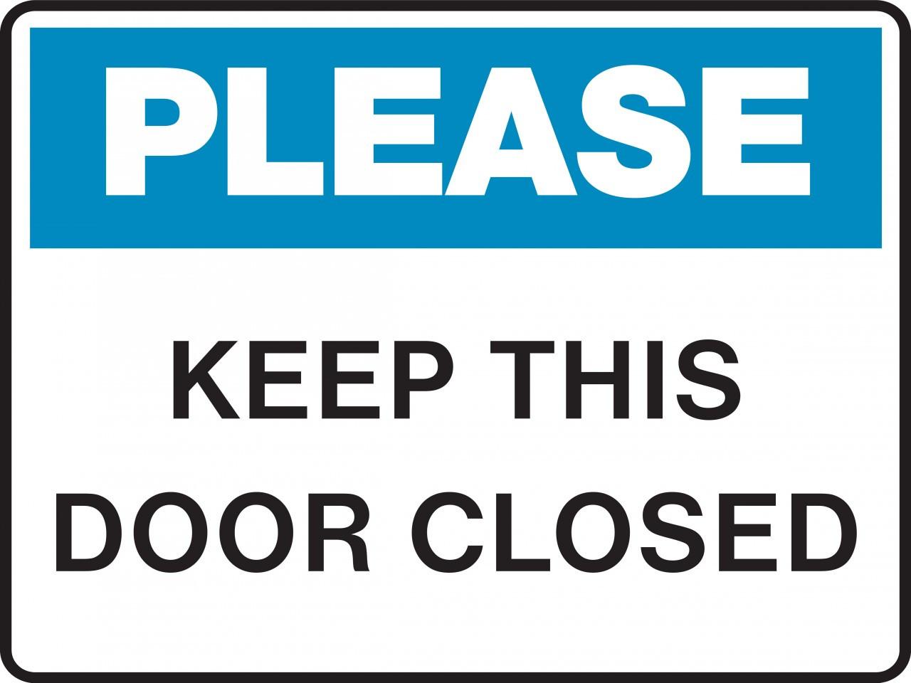 Door Signs Keep Door Closed