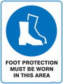 Mandatory Sign - FOOT PROTECTION MUST BE WORN IN THIS AREA