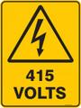 Warning  Sign - 415 4OLTS