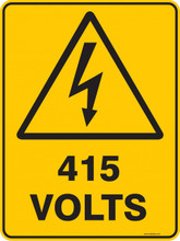 Warning  Sign - 415 4OLTS