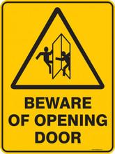 Warning  Sign - BEWARE OF OPENING DOOR