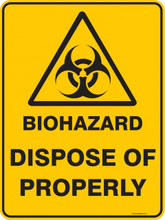 Warning  Sign - BIOHAZARD DISPOSE OF PROPERLY