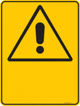 Warning  Sign - BLANK  Sign - PICTOGRAM 2